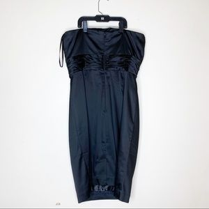 WHBM Black Strapless Party Lined Dress Size 8